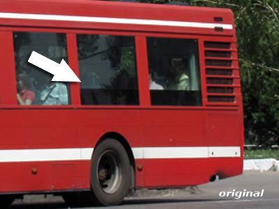 Оригинальный вариант окраски одиночного автобуса Saffle/Volvo