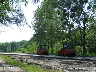Завершальний етап будівництва нової дороги