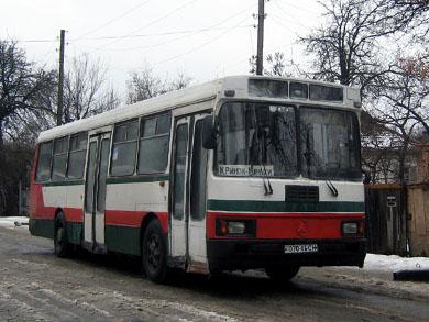 """ЛАЗ-А173 на маршруте """"Полтава - Мачехи"""" в Полтаве"""