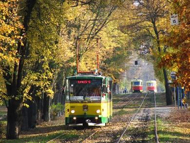 Трамвай кафе в Киеве