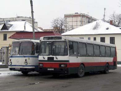 ЛАЗ А173 на маршруте «Полтава — Мачехи» в Полтаве