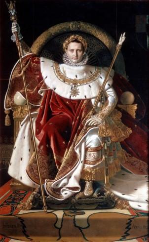 Портрет Наполеона на імператорському троні