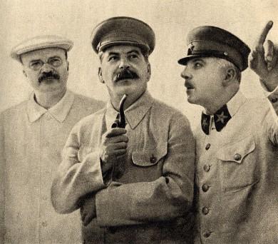 Молотов, Сталін і Ворошилов. 1937 р