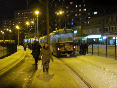 На скоростном трамвае