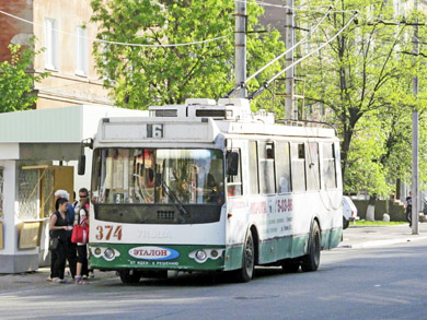 Самый новый троллейбус в Алчевске - Днипро Е187, 2008 г.в.