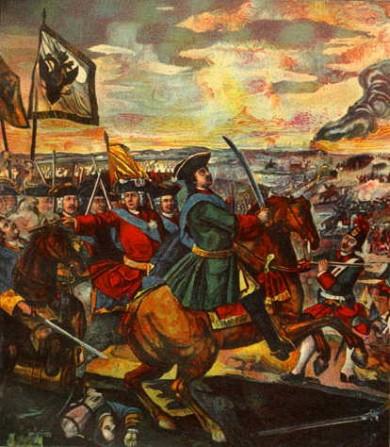 Картина «Полтавская битва», автор: М.В. Ломоносов