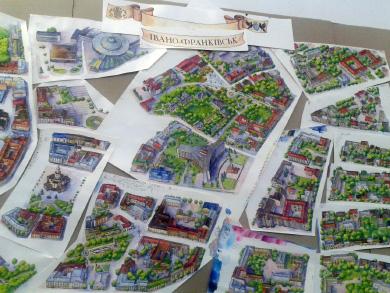 Малюнки на презентації карти