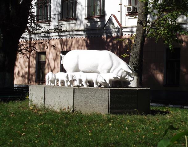 Пам'ятник свині м'ясної породи