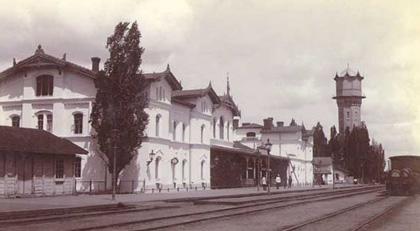 Старий будинок станції «Полтава-Південна». Фото кінця XIX ст.