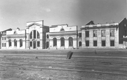 Руїни Південного вокзалу. Фото 1940-х років