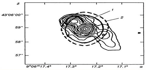Карта та модель квазара 3С216, одержані в інтерферометричному режимі