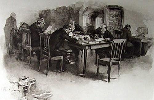 Иллюстрация к книге «Мертвые души», Н.В. Гоголь, 1900г.