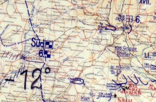 Немецкая военная карта, февраль 1942