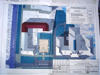План розміщення адмінстративної будівлі біля краєзнавчого музею