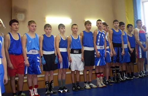 Учасники чемпіонату області з боксу