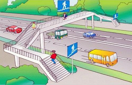 На дорогах I категорії згідно вимог ДБН слід розміщувати надземні або підземні пішохідні переходи