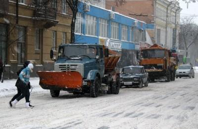 Снегоуборочная техника на ул. Ленина