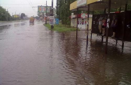 Полтавчане спасаются от потопа