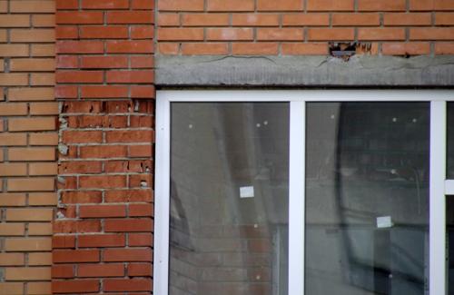В центре Полтавы разрушается новостройка