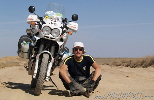 Валерій Кришень з Honda Africa Twin
