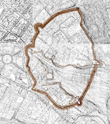 План Полтавської фортеці (реконструкція В.О.Трегубова)