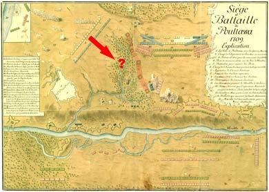 Карта-план Полтавської битви