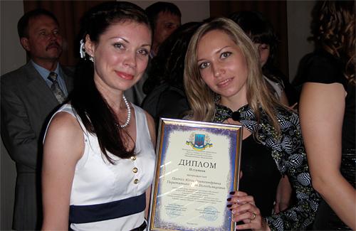 За бізнес-план номінації «Розвиток підприємницької діяльності на селі» Юлія та Інна отримали 2 місце