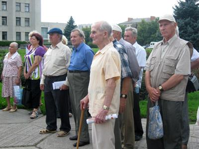 У Полтаві влаштували мітинг проти імперіалізму і пенсійної реформи