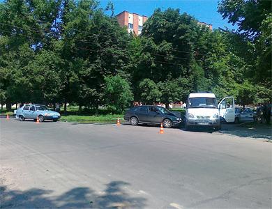 В Полтаве произошло ДТП из-за милицейской Таврии