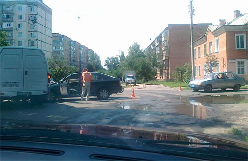 В Полтаве произошло ДТП из-за милицейской «Таврии»
