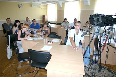 В обласному управлінні МНС пройшло засідання Полтавського прес-клубу