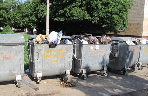 В Полтаві у місцях масового відпочинку людей встановили сміттєві баки