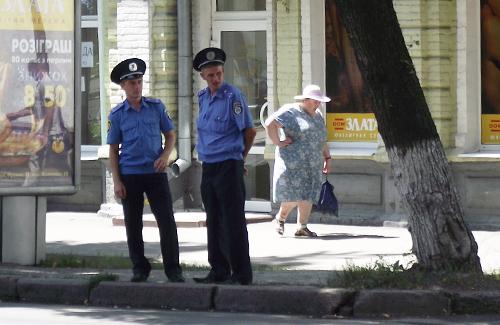 Співробітники міліції на вул. Фрунзе