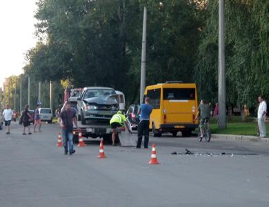 В Полтаве произошло ДТП с участием маршрутки