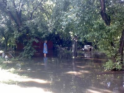 Кожного разу навіть невеликий дощ підтоплює ділянку від зупинки «23 школа» до вул. Харківське шосе