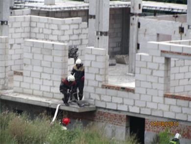 Пожар на стройке полтавского «Элита-центра»