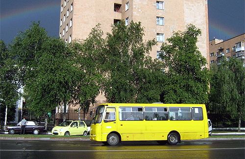 Автобус «Богдан А09202» на ул. Зеньковской в Полтаве