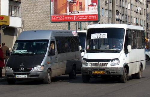 В Кременчуге уберут часть маршруток и «переобуют» троллейбусы