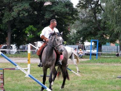 Лубенці зустрічають День незалежності із конями і оркестром