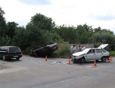 В Полтаве на перекрестке Красина и Матвиенко произошло ДТП