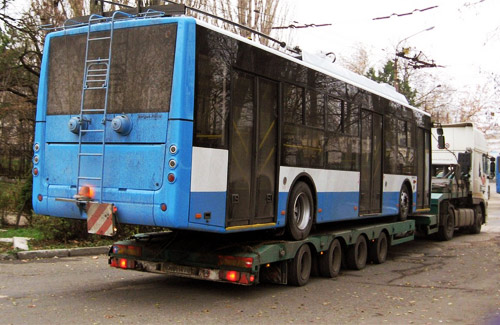 Транспортировка троллейбуса «Богдан» Т701.10