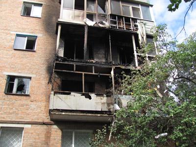 Сьогодні у Полтаві палала п'ятиповерхівка на вулиці Леніна, 122