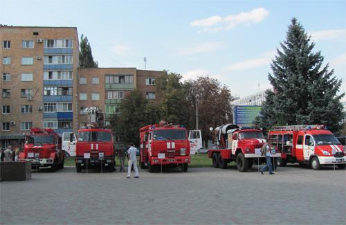 В Полтаве прошла выставка пожарного оборудования