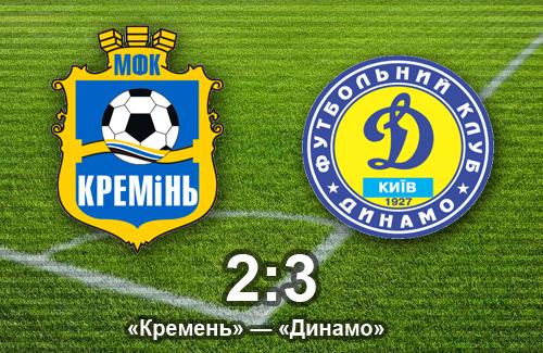 Кубок Украины: «Кремень» достойно проиграл «Динамо»