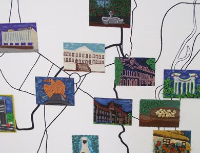 Сегодня студенты педуниверситета и младшеклассники с помощью пластилина и бумаги создают картины