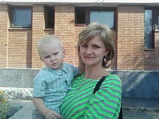 Настя з 5-річним Михайлом