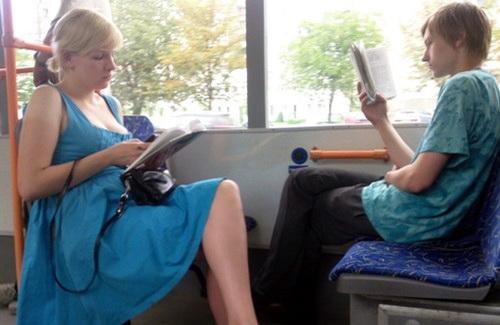 Троллейбус-читальня