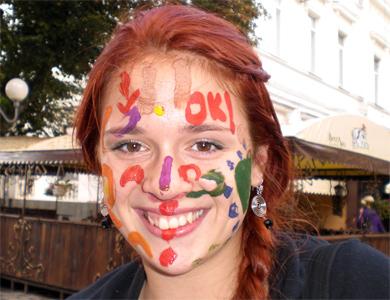 В Полтаве появились молодые архитекторы с разрисованным лицами