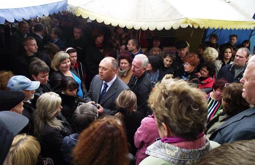 У мэра Полтавы не получился разговор по душам с предпринимателями рынка «Полимпекс»