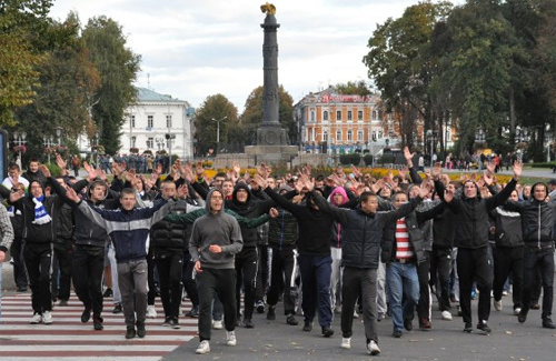Киевские «фаны» в Полтаве